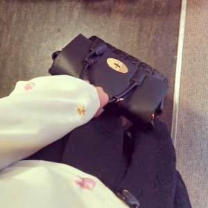 Nishe embroided blouse and Cara Bag by Mulberry (Made In England)
