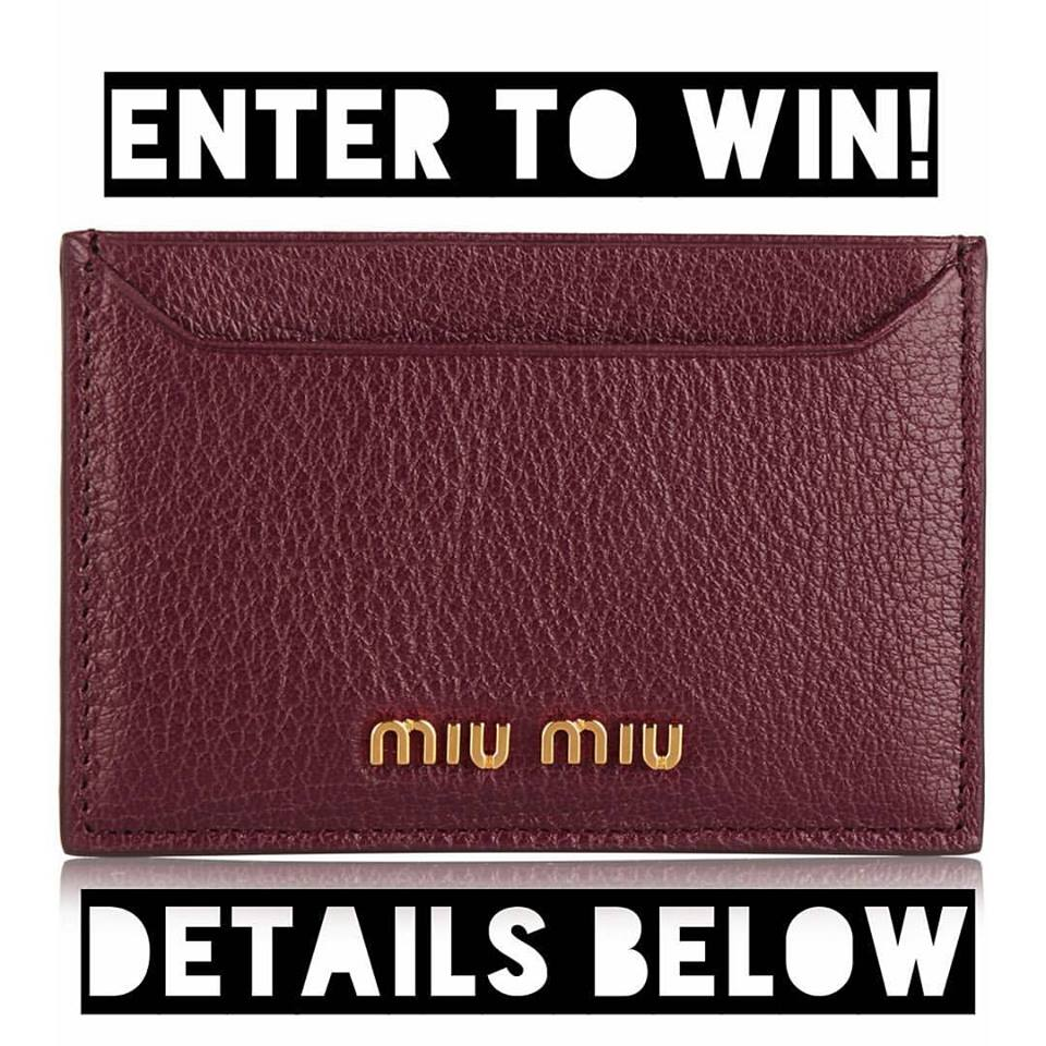 September Competition Win A Brand New Miu Miu Cardholder Andrea In Arcadia