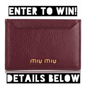 Brand new Miu Miu Burgundy cardholder up for grabs!